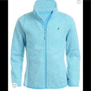 Nautica Girls' Zip Up Sweatshirt